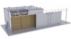 Secador(Estufa) para Madeira - EVS (Vapor)