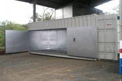 Invernadero de tratamiento de palets en contenedores